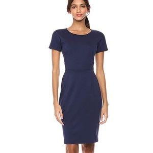 Lark & Ro Women's Sheath Dress in Navy Blue